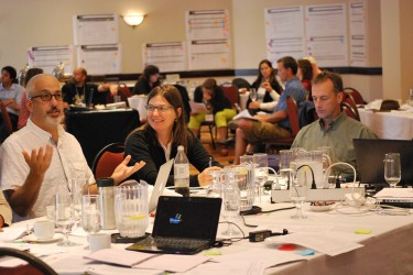 MaPP workshop participants explore options for an integrated suite of human well-being and ecological indicators.