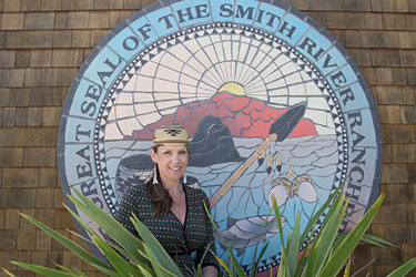 Briannon Fraley, self-governance director for the Smith River Rancheria, Tolowa Dee-ni'