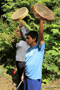 The youth were empowered by learning about their culture. Photo credit: Brenda Bouzane.