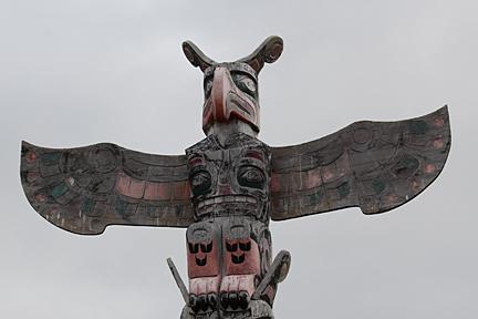 Totem pole (Photo credit: Barb Dinning, Nanwakolas Council)